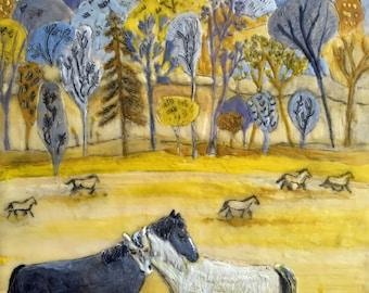Wild Horses Print --  Couldn't Drag Me Away