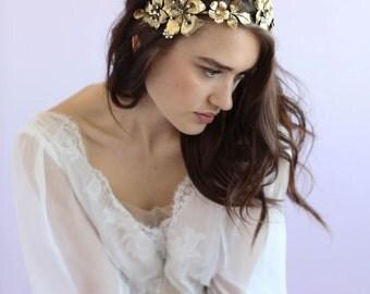 Bridal headband - Dogwood flower double headband - Style 644 - Made to Order