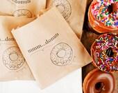 Donut Favor Bag - Wedding, Shower, Party favors and take home bags - Kraft food service bag - 25 Bags