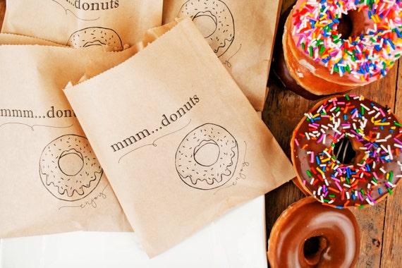 Wedding Favor Donut Bags : Donut Favor BagWedding Favor, Shower Favor and Take Home Bags ...