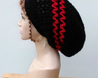 Dread tam, slouchy hat, made to order in Custom Colors, slouchy beanie woman or man dread tam hat