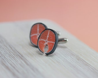 Salmon Steak Cufflinks
