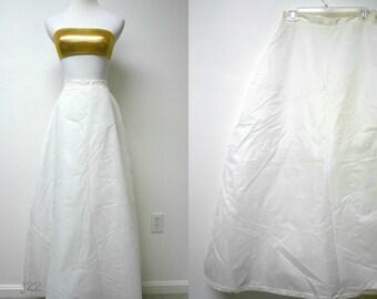 "Merry Modes Inc. . bridal gown A-line slip / petticoat . high waist 28"""