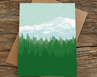 blank note card set / mountains
