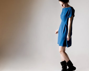 Silk dress, Tunic dress, Silk tunic, Short dress, Bridesmaids dress, Royal blue dress, Womens clothing, Women dress, Boho dress, Tunic dress