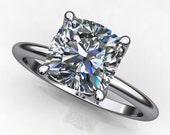 Private Listing for Rachel - custom natalie ring - 1.5 carat cushion cut NEO moissanite engagement ring