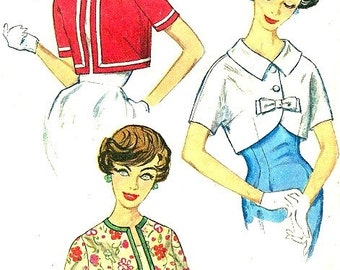Simplicity 2974 Set of Short Jackets circa 1959  Wear One Over Your Wiggle Sheath Dress