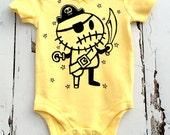 6m Yellow Zombie Pirate Babygro vest romper by Love Rocky