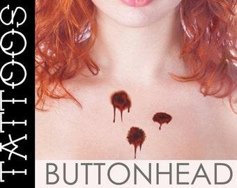 Bloody Bullet Wound Temporary Tattoos Gun Shot Gunshot Fake Wound Halloween Costume Accessories