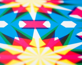 Wrapping Paper -- CMYKaleidoscopic Patterned Paper -- pattern 3