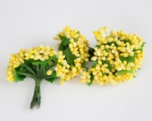 36 YELLOW Flower Stamens for Floral Crowns or DIY Flowers - Bouquet Filler, Flower Crowns, diy Flower Supplies - ITEM 0255