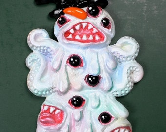 Shoggoth Snowman Ornament