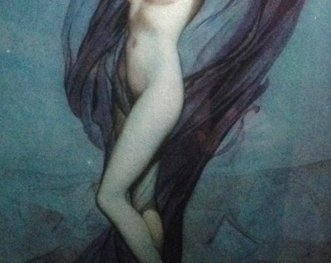 Featured listing image: Alberto VARGAS The BLUE NUDE 1930 Nude Art Deco Pin-Up Rare limited edition from Original Painting Ziegfeld Follies, Equire, Playboy Pinup