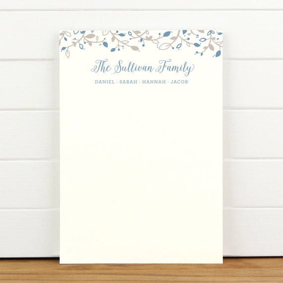 SPROUT Family Personalized Notepad - Custom Letterhead Families Kids Parents School Note
