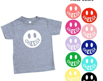 Cheese !! Triblend TShirt in Heather Grey - Infant and Toddler Sizes - Happy Baby, Family Photos, Funny Graphic, Birthday