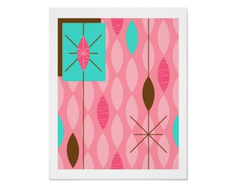 Rain Art Print in Your Choice of 4 Color Variations by Tonya Newton with Free US Shipping
