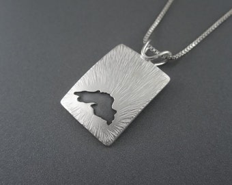 Handmade Sterling Silver Greatness Lake Superior Pendant