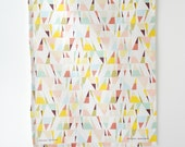 Peaks Tea Towel. Geometric and colorful print for the kitchen.