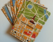Slim Wallet- Vintage London Map - choose 1