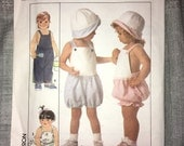 Uncut Vintage Simplicity Pattern No. 9183 - Size 2 - Toddler Overalls, Rompers & Hats
