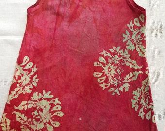 Girl's 12 batik tank dress.