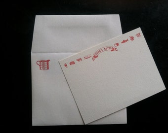Cook's Notes - Letterpress flat card with matching envelope