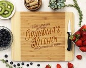Personalized Cutting board, Custom Engraved Bamboo wood, Grandma's Kitchen, Mother's Day Cutting Board  --21114-CUTB-001