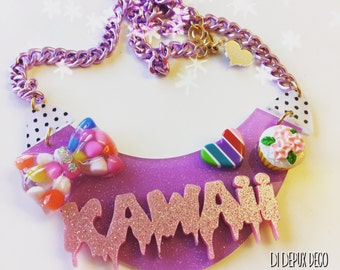 SALE!! Deco kawaii glitter Necklace one and only!