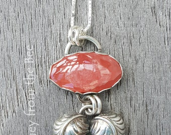 Heart of the Matter - Rhodochrosite Silver Heart Pendant