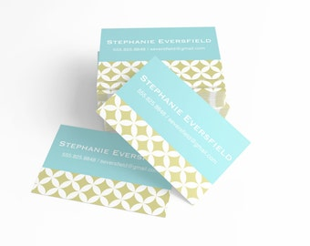 Personal Calling Cards, Geometric Business Cards, Mom Calling Cards, Kids Calling Cards