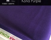 Kona cotton solid quilt fabric, Kona PURPLE 1301, purple fabric, Solid fabric Yardage, Kaufman, Cotton fabric, Choose the cut