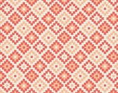 Tribal Fabric, Woodland Springs Fabric, Geometric Fabric, Woodland Creature Fabric, Riley Blake, Woodland Geometric Coral, Choose the Cut
