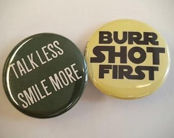 "Aaron Burr Set of 2 1.25"" pinback buttons"