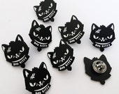 Bad Kitty Cat Enamel Pin