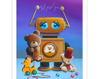 Robot Series Limited Edition - The Toy Robot - Signed 8x10 Semi Gloss Print (3/10)