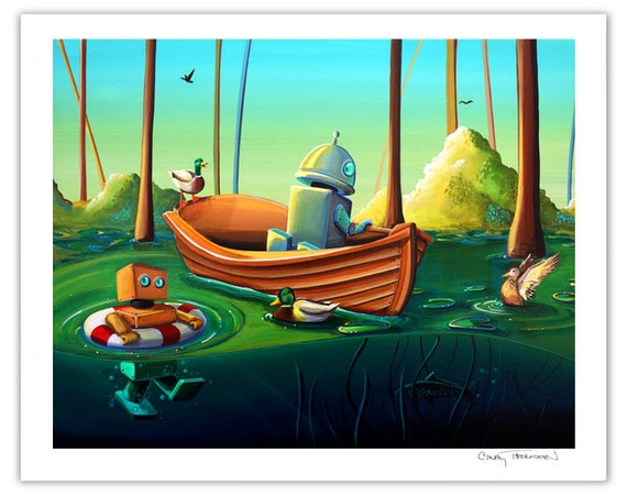 Robot Series Limited Edition - A River Of Curiosity - Signed 8x10 Semi Gloss Print (3/10)