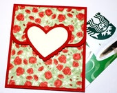 Valentine Gift Card Holder -  Heart Gift Card Holder, Money Holder Card, Gift Card Envelope - Valentine's Day, Wedding, Anniversary