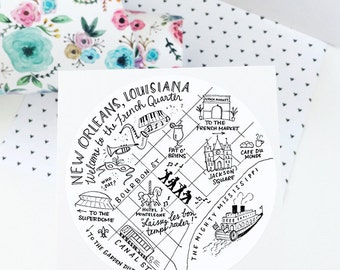 """New Orleans, Louisiana 3"""" Stickers"""