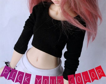 Doll BJD clothes MSD Doll clothes long sleeve Crop Top for Minifee Pick your color MonstroDesigns