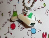 Rick and Morty - Rick's Portal Gun Necklace - Handmade Mini Charm