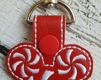 Ears Swirls Key Fob * Key Chain * Zipper Pull * Party Favors