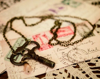 Clock Key Necklace