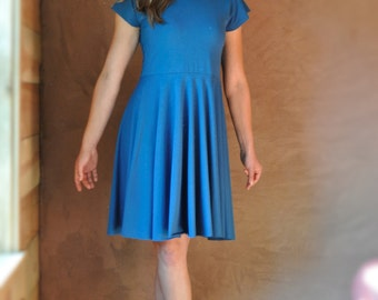 Begonia Dress ~ Organic Cotton & Bamboo or Soy ~ Made to Order in Your Color Choice