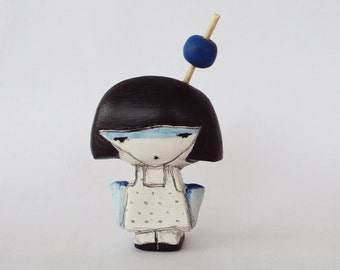 blueberry girl mini clay doll in a box