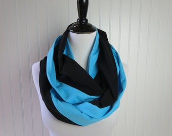 Carolina Panthers Scarf - Carolina Blue Scarf - Blue & Black Scarf - Superbowl Scarf -  Team Scarf