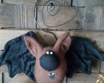 Harvey Wallbanger the Bat, A Primitive, Folk Art Pattern from Raven's Haven
