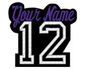Custom Embroidered Sports Baseball Number Varsity Name Patch Felt Iron on Personalized Name Patch Embroidery Customized Name Tag