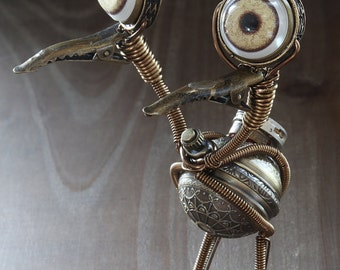 Steampunk Doduo Pokemon Go Monster - Made to Order