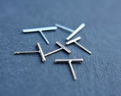 Create your own bar stud earrings - minimalist earrings - delicate bar earrings - modern jewelry - studs - bar studs - line studs