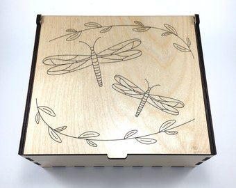 Dragonflies Essential Oil Box, Medium Box, Aromatherapy Storage Box, Essential Oil Case, Aromatherapy Oil Organizer, Essential Oil Display